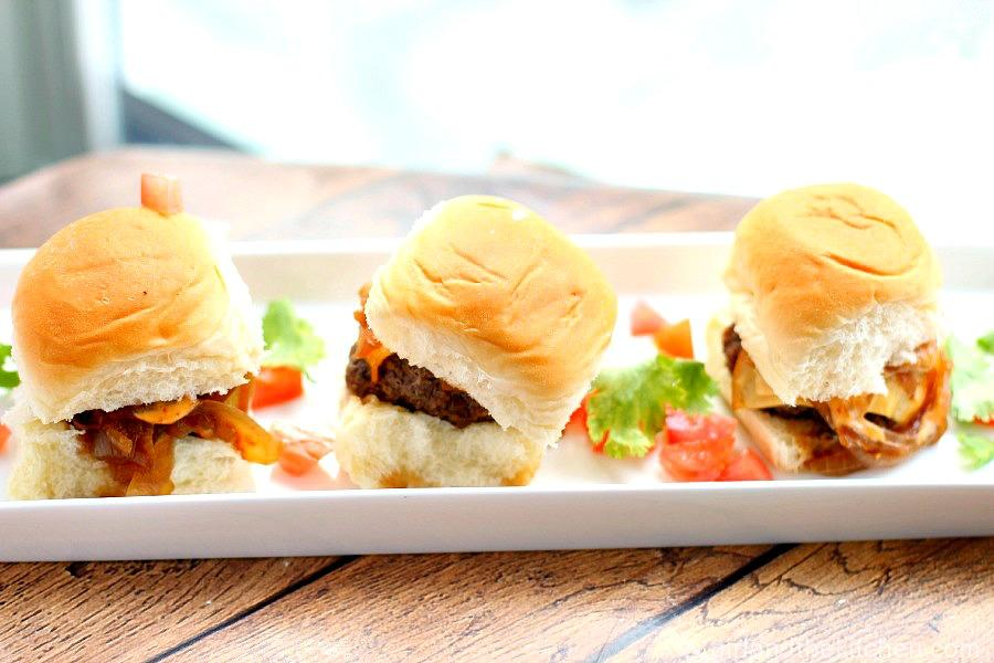 Omaha Steaks Bison Sliders with Chipotle Aioli. girlandthekitchen.com