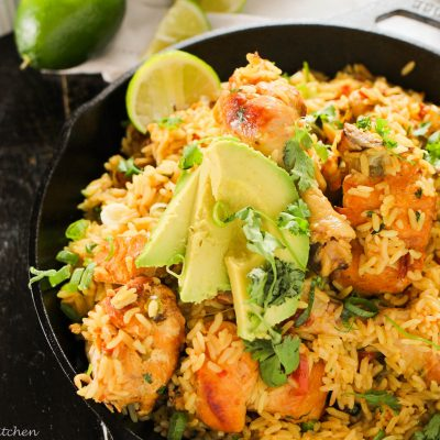 Arroz con Pollo…One Pot Mexican Rice and Chicken