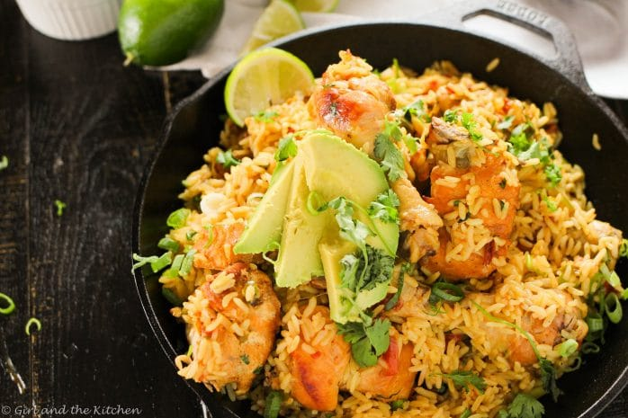 Arroz Con Pollo One Pot Mexican Rice And Chicken Girl And The Kitchen
