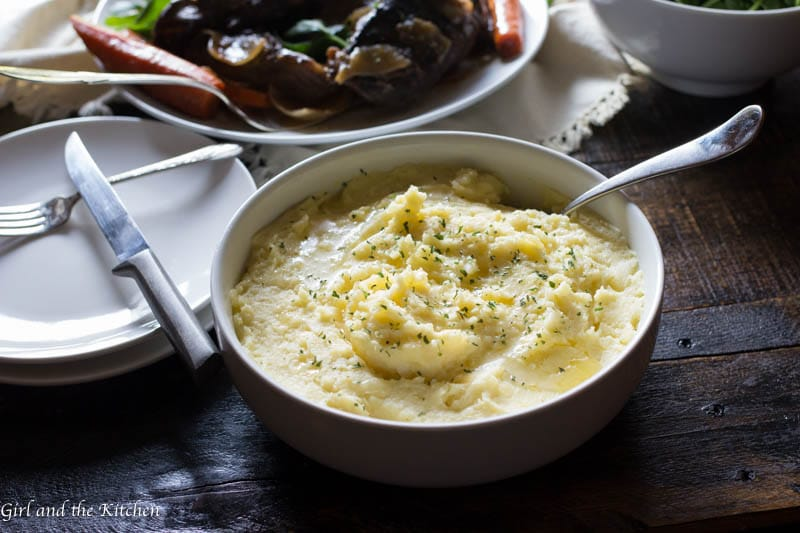 This is pretty much as simple and as good as it gets. Easy. Delicious. Creamy mashed potatoes. And for some reason I get asked how to make these more than other potato dish out there. The secret to the ultimate creamy mashed potatoes will blow you away. Plus learn my trick how to make these ahead of time and still have them perfectly creamy when serving a crowd.