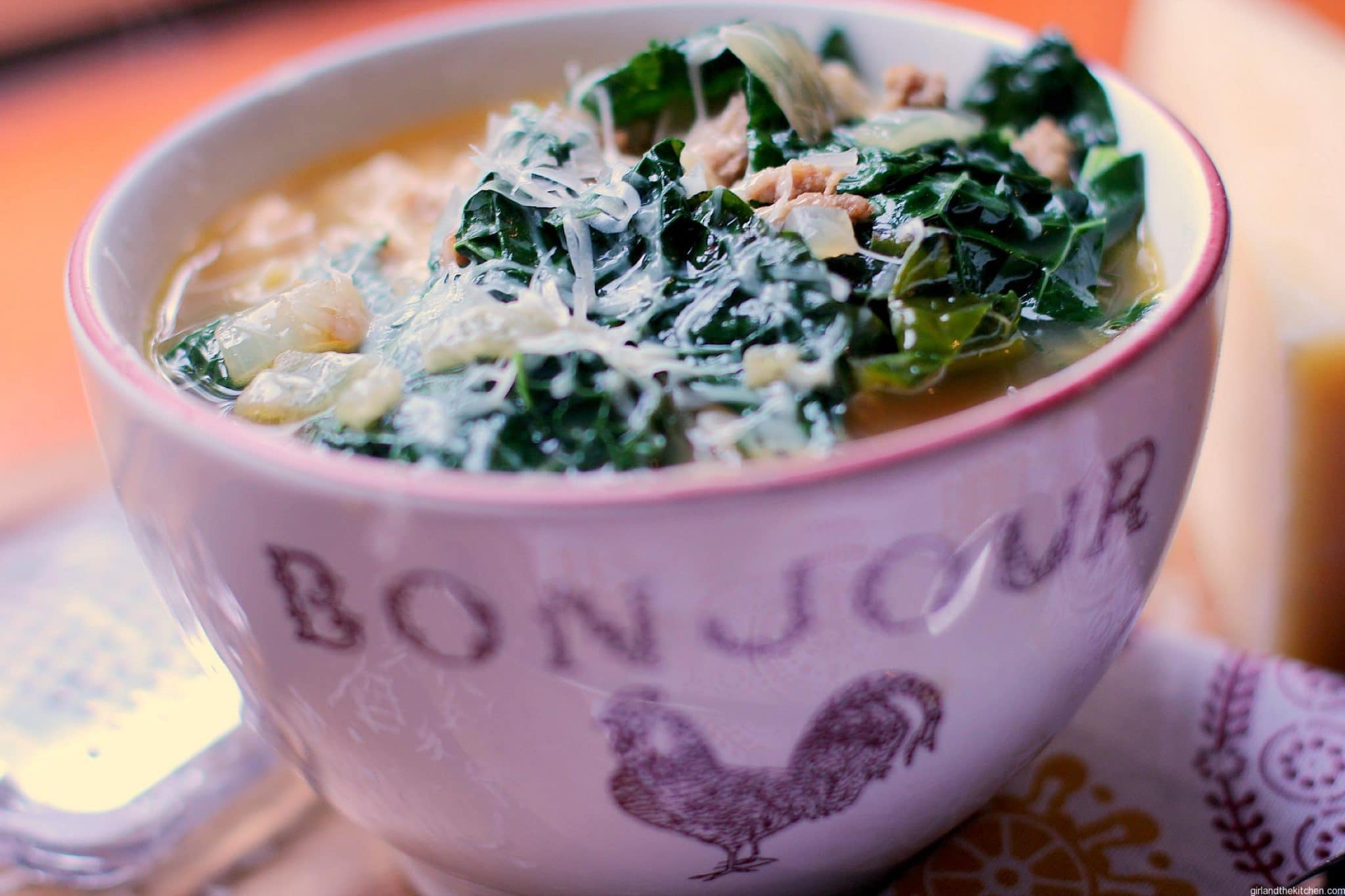 Sausage and Kale soup - Girl and the Kitchen