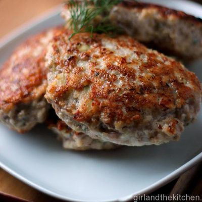 Russian Chicken Cutlets from the Girl and the Kitchen