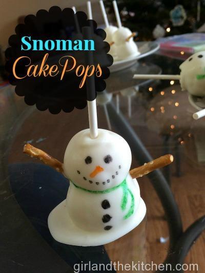 Freshly Baked Fridays Snowman Cake Pops-Pinterst