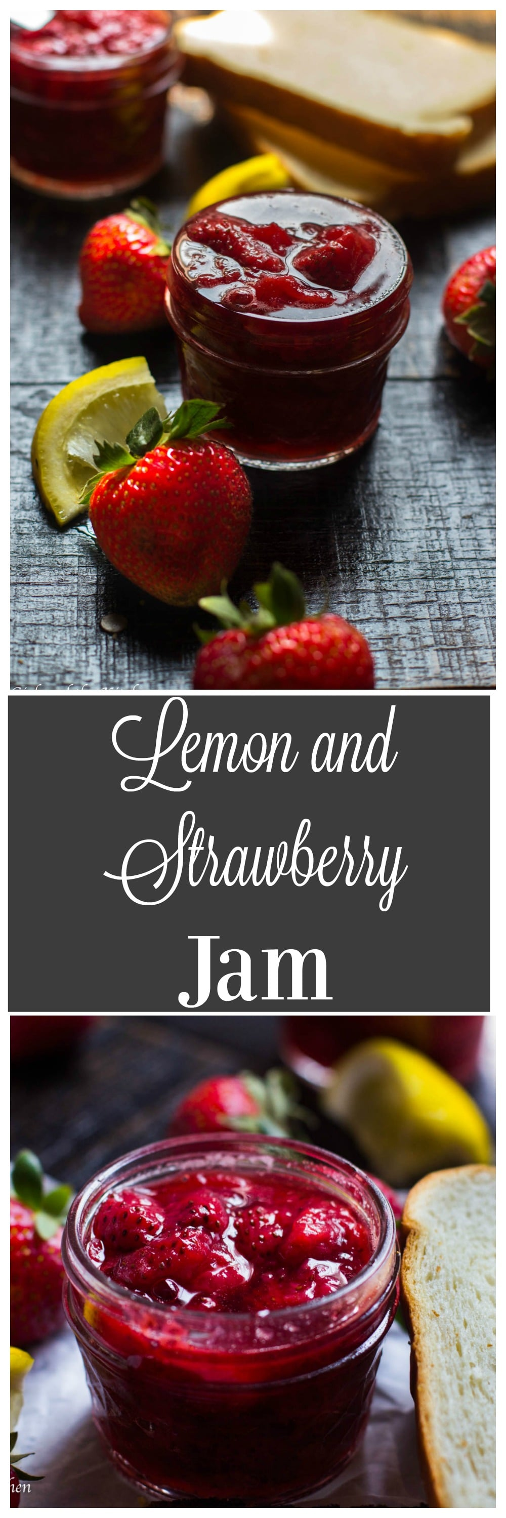 This bright and easy lemon and strawberry jam is a perfect spread for your brunch toast or pancakes.