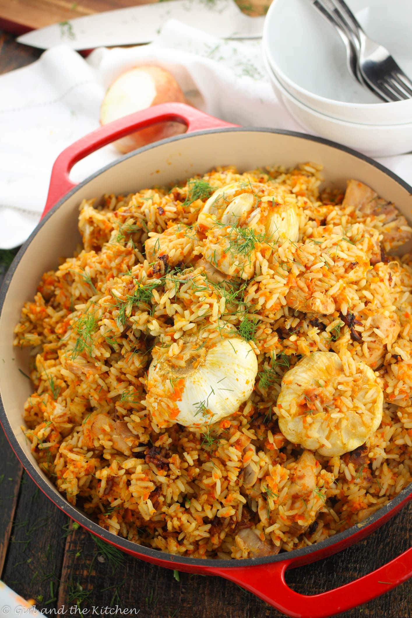 Russian plov a one pot chicken and rice recipe girl for Azeri cuisine caledonian road