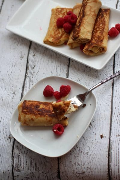 Ricotta Stuffed Crepes
