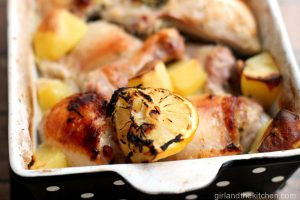 Greek Chicken with Potatoes from the Girl and the Kitchen