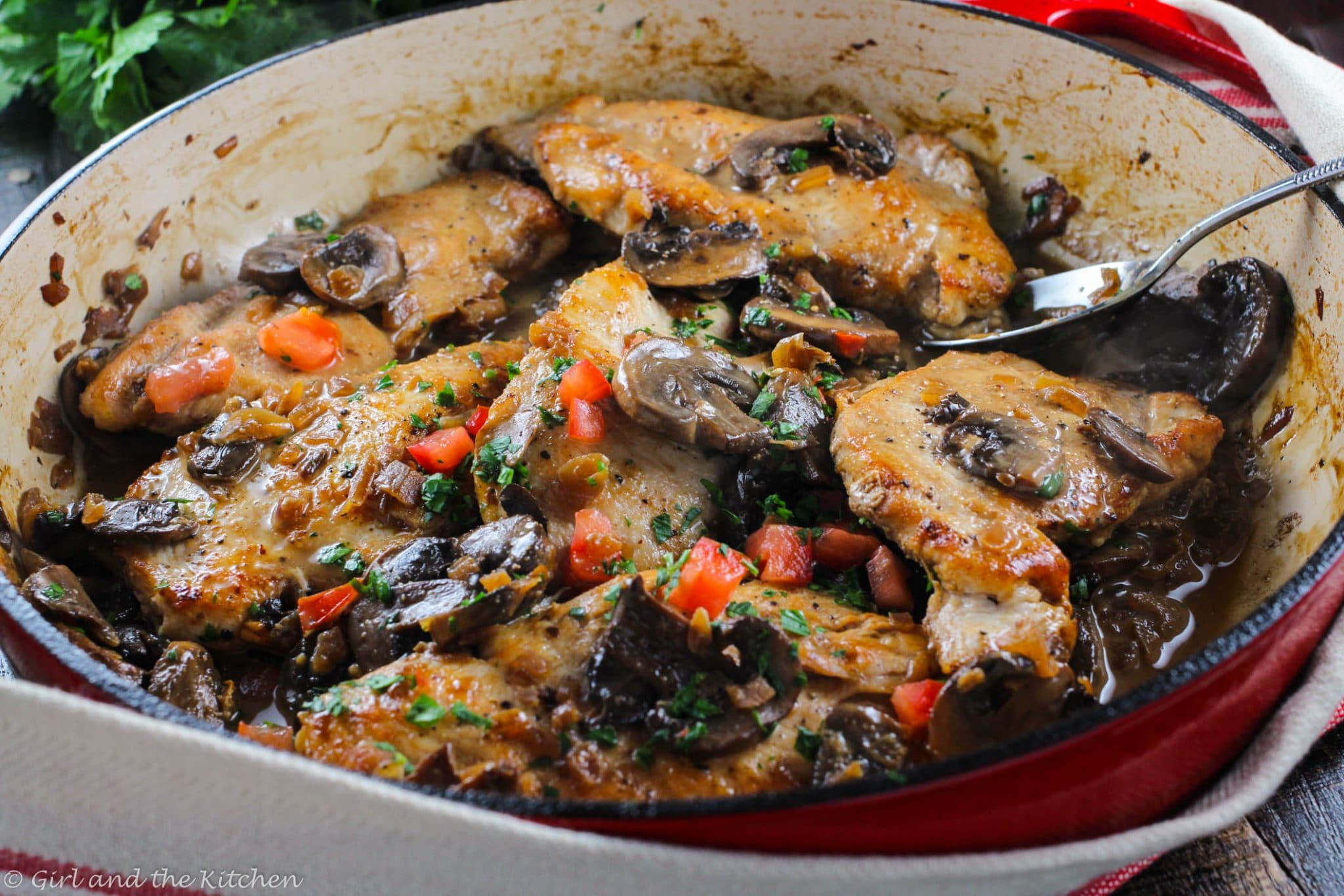 Healthy And Easy Chicken Marsala A One Pot Meal Girl And The