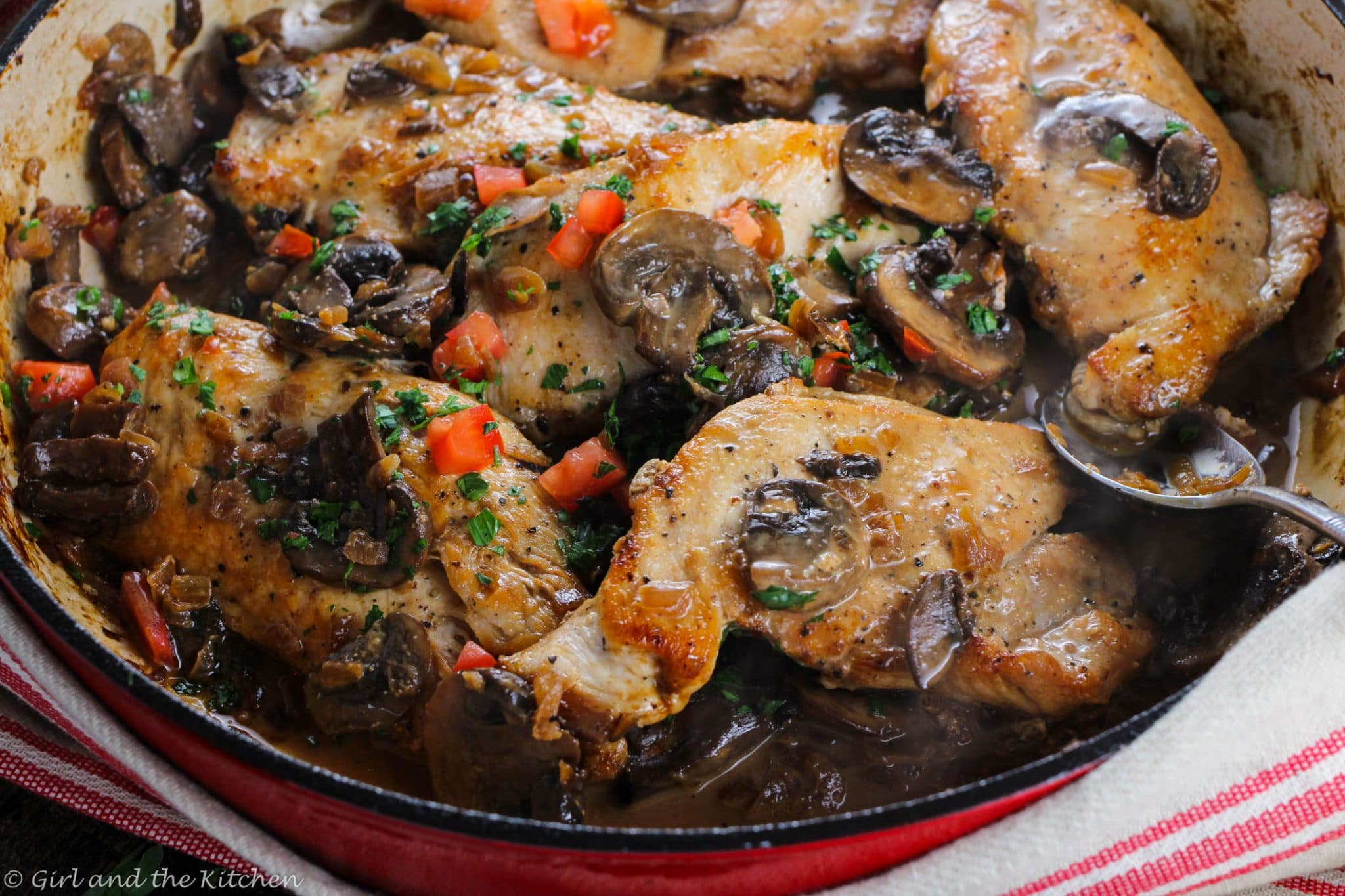 Healthy And Easy Chicken Marsala A One Pot Meal Girl And The Kitchen