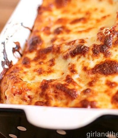 Roasted Garlic Creamy Lasagna Rolls