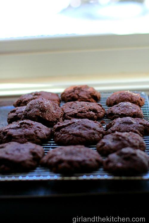 Salted Caramel and Nutella Stuffed Fudgy Cookies-015
