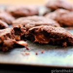 Salted Caramel and Nutella Stuffed Fudgy Cookies-007