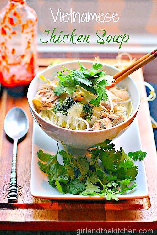 Vietnamese Chicken Noodle Soup A Big Bowl Copykat Girl And The Kitchen