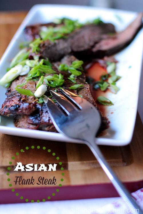 My Asian Style Grilled and Marinated Flank Steak is full of flavor, texture  and that