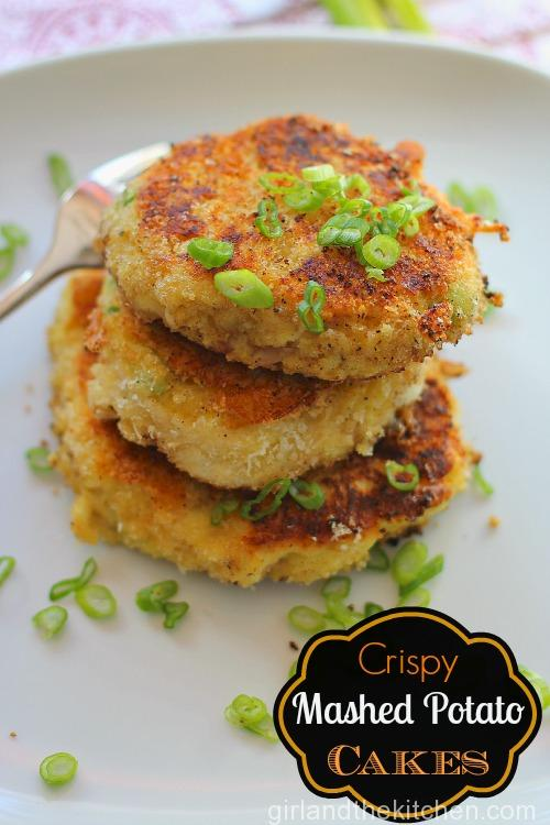 Crispy Mashed Potato Cakes Girl and the Kitchen