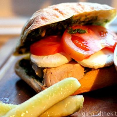 Pesto Chicken Caprese Sandwich