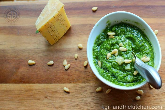 5 Minute Basil Pesto. Girl and the Kitchen-