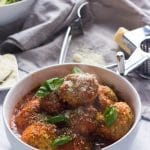 These ricotta meatballs are tender, light and incredibly delicious and are what meatball dreams are made of!  They take no time to prepare but are fancy enough for a Saturday night dinner!  Say hello to your new favorite meatball recipe.