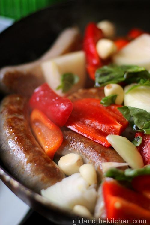 Balsamic Sausage and Peppers. Girl and the Kitchen