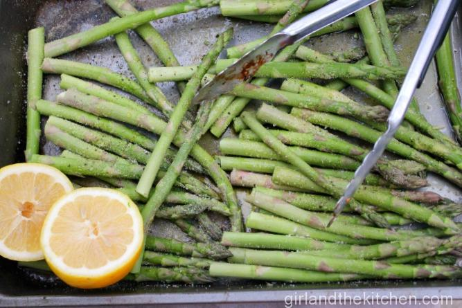 Parmesan Garlic Asparagus. Girl and the Kitchen-