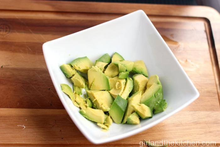 Avocado and Feta Salad. Girl and the Kitchen