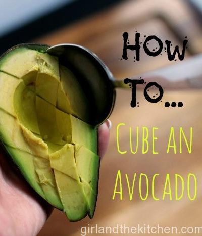 Cooking 101…How to Cube an Avocado