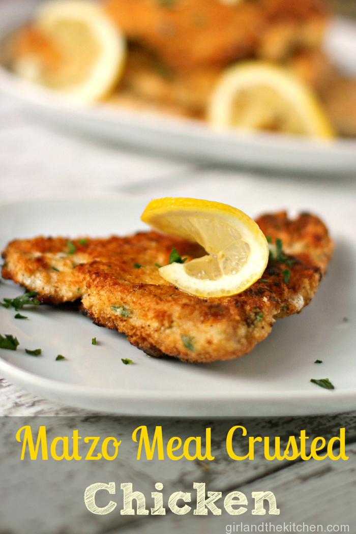 Crispy Matzo Lemon Chicken from the Girl and the Kitchen