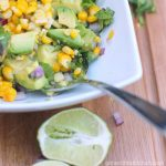 Grilled Corn and Avocado Salad from the Girl and the Kitchen