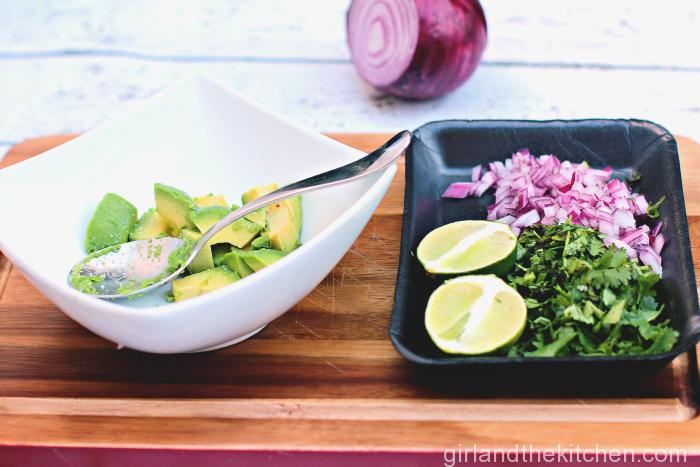 A refreshing and healthy salad full of grilled corn, creamy avocado and tangy lime.  Full of flavor, good fats and color!