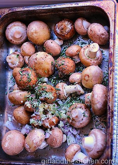 Rosemary Roasted Mushrooms from the Girl and the Kitchen