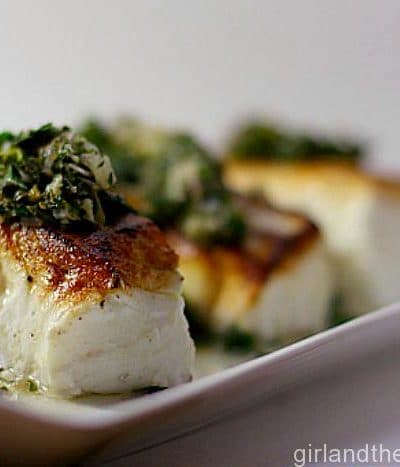 Seared Halibut with Chilli Gremolata