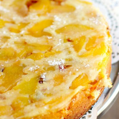 Peach and Almond Sharlotka from the Girl and the Kitchen