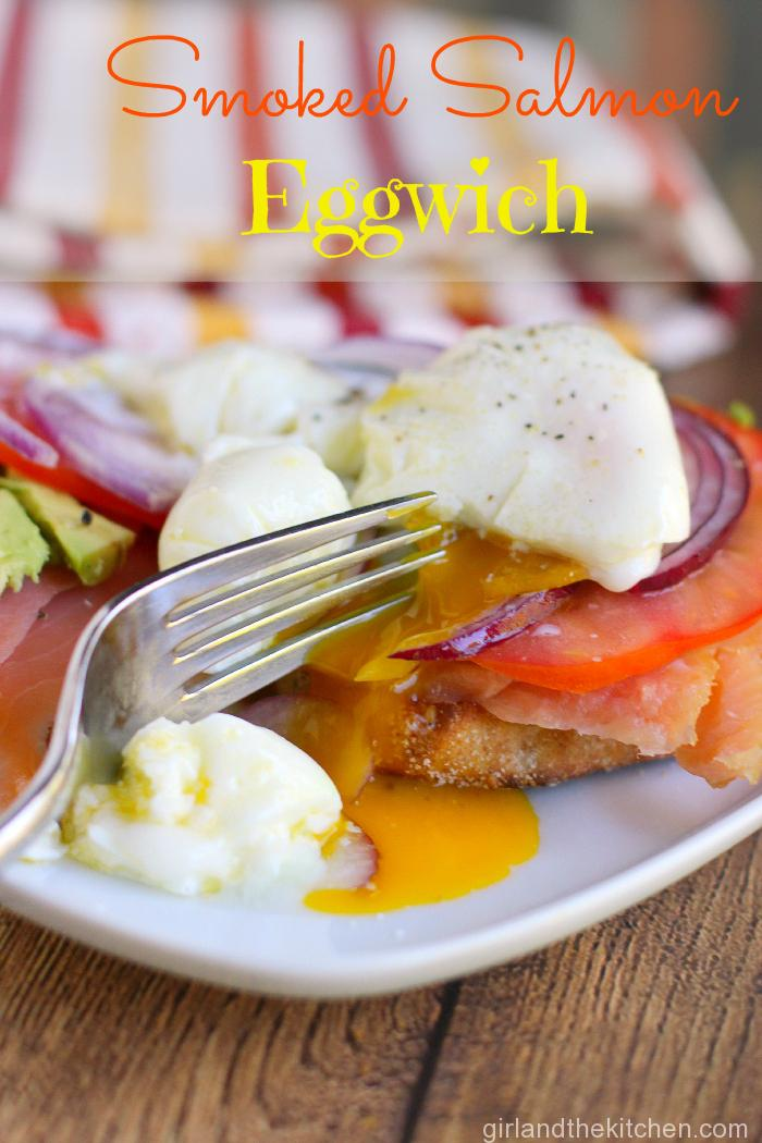 Poached Eggs with Smoked Salmon from the Girl and The Kitchen