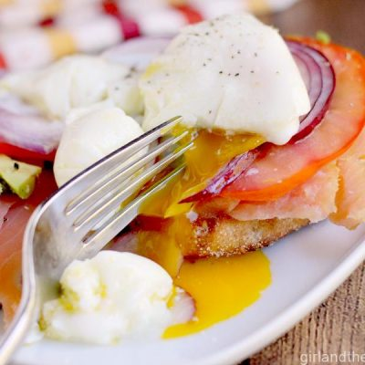 Smoked Salmon and Poached Egg Sandwich