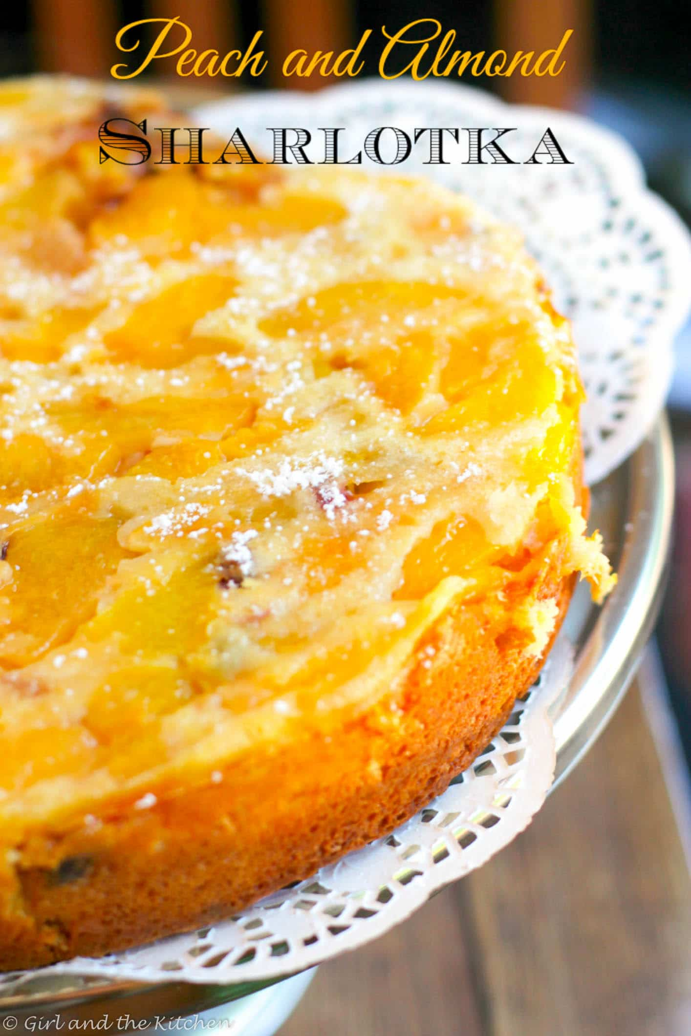 Russian Sharlotka Almond and Peach Cake...Шарлотка (4 of 7)