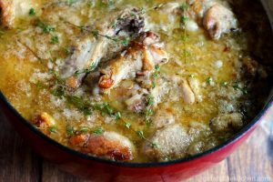 Coq au Vin Blanc from the Girl and the Kitchen