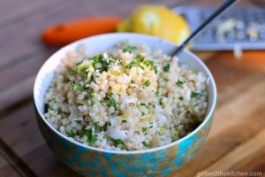Lemon Infused Israeli Couscous Recipe