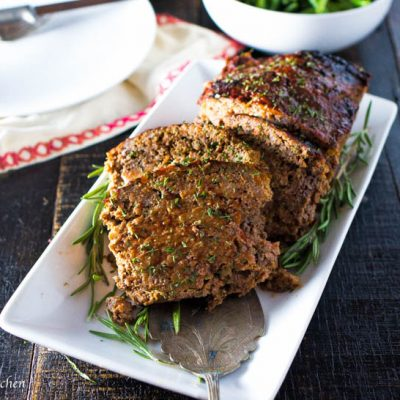 Moist Turkey Meatloaf with Rosemary