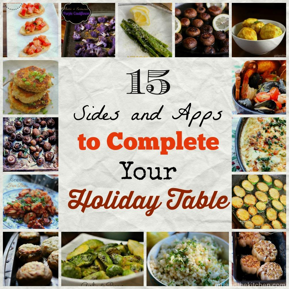 15 Holiday Sides and Appetizers to complete your holiday table