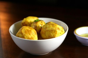 Golden Potatoes with Garlic Chive Butter