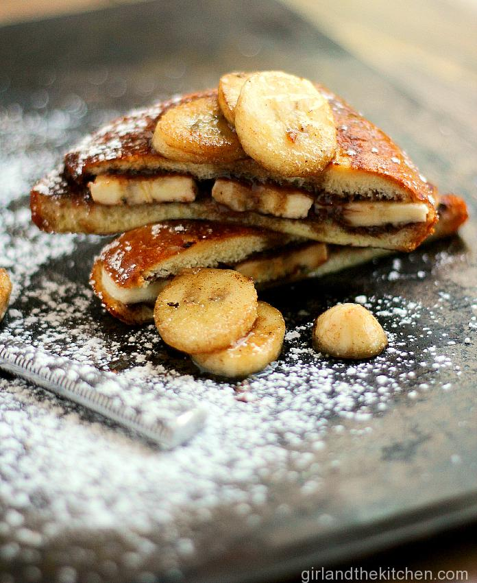 Nutella Banana Stuffed French Toast from the Girl and the Kitchen