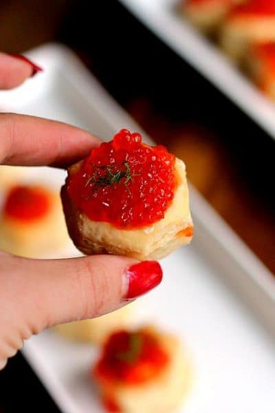 Caviar Canapes from the Girl and the Kitchen