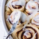 Learn the secret behind the famous Cinnabon roll and how easily it goes from the mixing bowl to the breakfast table.