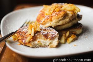 Ricotta and Apple Syrniki (сы́рники)…Russian Cheese & Apple Fritters…