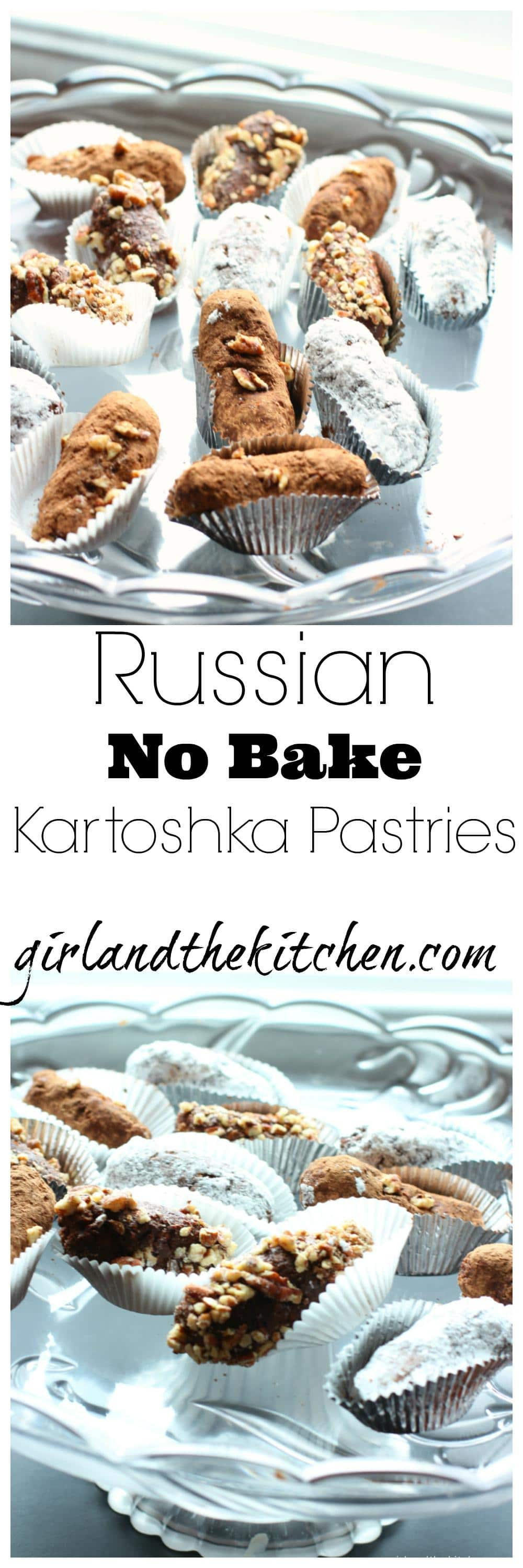 Russian Kartoshka Pastry  Collage