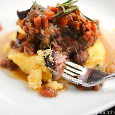 Braised Short Ribs with Creamy Parmesan Polenta. girlandthekitchen.com