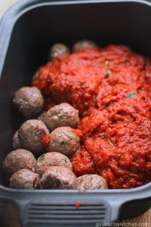Crockpot Meatballs from girlandthekitchen.com