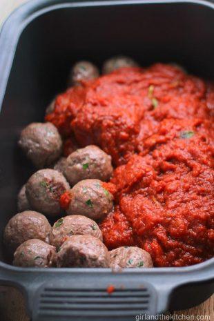 Crockpot Meatballs from girlandthekitchen.com