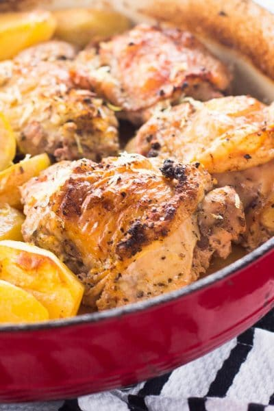 One Pot Greek Chicken and Potatoes