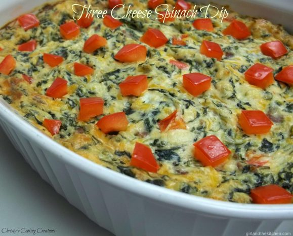Three Cheese Spinach Dip New pm1